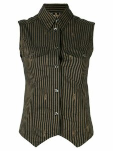 Fendi Pre-Owned striped sleeveless shirt - Brown