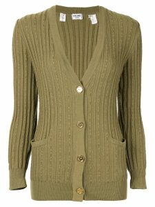 Céline Pre-Owned cable knit cardigan - Green