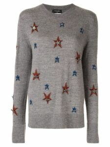 Chanel Pre-Owned star motif jumper - Grey