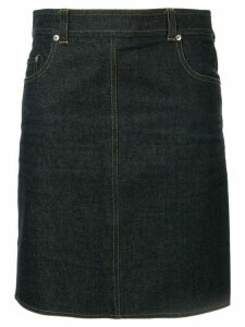 Chanel Pre-Owned straight mini denim skirt - Blue
