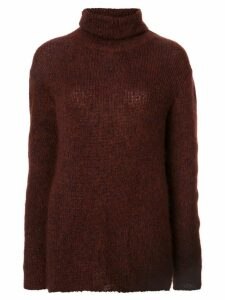 Chanel Pre-Owned turtle neck jumper - Red