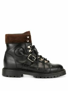 Gucci Pre-Owned buckled combat boots - Black