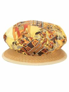 Hermès Pre-Owned printed sun hat - Yellow