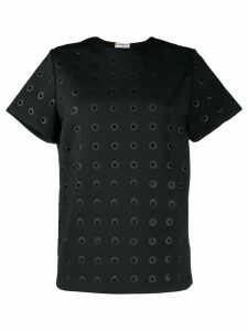 Balenciaga Pre-Owned eyelet detailed T-shirt - Black
