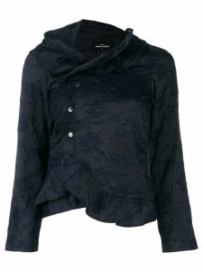 Comme Des Garçons Pre-Owned asymmetric ruffled blouse - Blue