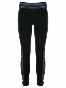 No Ka' Oi glitter detail performance leggings - Black