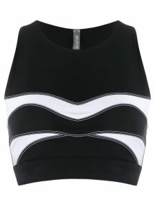 No Ka' Oi stitching detail sport tank top - Black