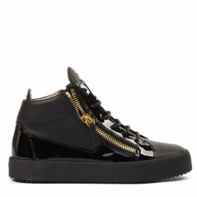 Giuseppe Zanotti Black Leather Kriss Hi-top Sneakers