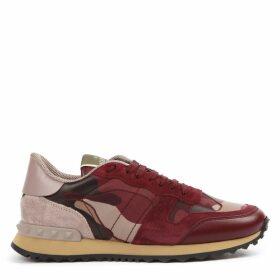Valentino Garavani Multicolored Leather Rockrunner Camouflage Sneakers