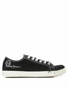 Maison Margiela Tabi destroyed sneakers - Black