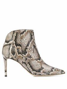 Giuseppe Zanotti Tysha snakeskin effect boots - Neutrals