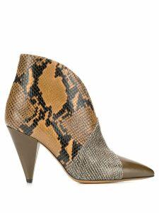 Isabel Marant snakeskin pattern boots - Neutrals