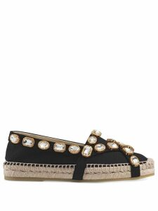 Gucci crystal espadrilles - Black