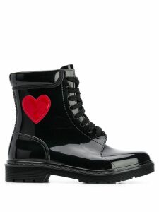 Love Moschino lace-up boots - Black