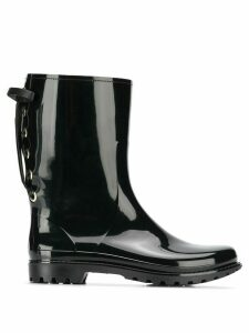 Red Valentino laced back rain boots - Black