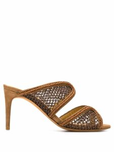 Alexandre Birman straw mules - Brown