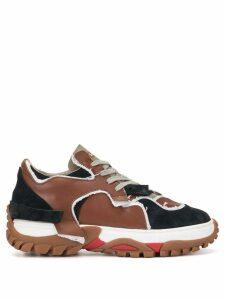 Kolor colour block sneakers - Brown