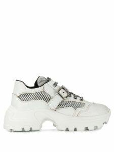 Miu Miu ridged chunky sneakers - White