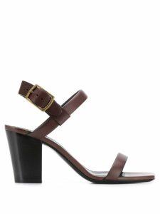 Saint Laurent Oak 75 sandals - Brown