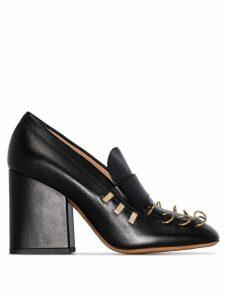 Marni Piercing-embellished loafer pumps - Black