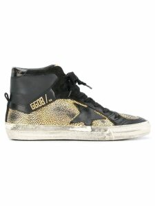Golden Goose Superstar hi-top sneakers - Metallic