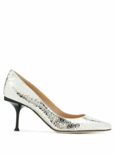 Sergio Rossi metallic pointed pumps - Silver