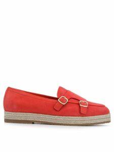 Santoni buckled espadrilles - Red