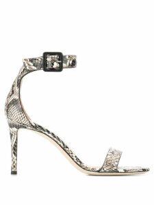 Giuseppe Zanotti snakeskin effect sandals - Neutrals