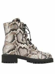 Giuseppe Zanotti snakeskin effect boots - Neutrals