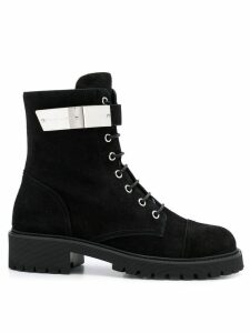 Giuseppe Zanotti suede lace-up boots - Black
