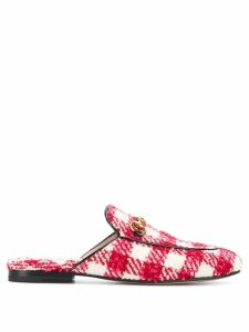 Gucci Princetown check slippers - Red