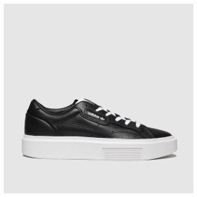 Adidas Black & White Sleek Super Trainers