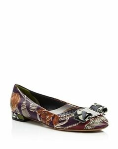 Salvatore Ferragamo Women's Varina Floral Leather Ballet Flats