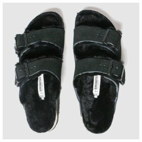 Birkenstock Black Arizona Shearling Sandals