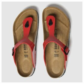 Birkenstock Red Gizeh Patent Sandals