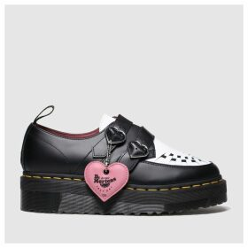 Dr Martens Black & White Lazy Oaf Buckle Creeper Lo Flat Shoes