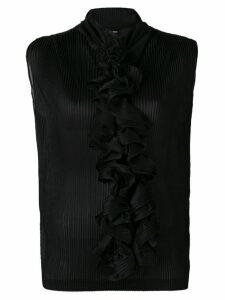 Giorgio Armani ruffle-embellished blouse - Black
