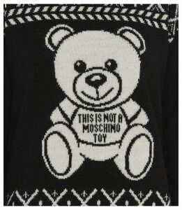 Moschino Pullover Fair Isle Teddy Bear