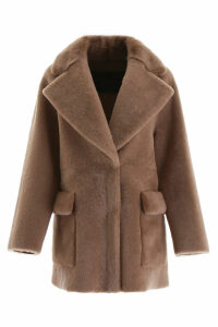 Blancha Shearling Coat With Mink Fur