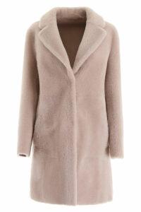 Blancha Reversible Midi Shearling Coat