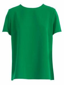 Parosh T-shirt S/s Crew Neck W/slit Behind