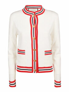 Gucci Striped Detail Buttoned Cardigan