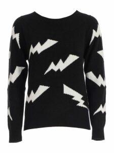 Parosh Sweater L/s Wide Neck Bicolour