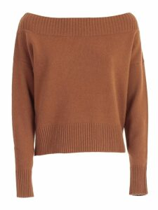 Parosh Sweater L/s Short Wide Neck