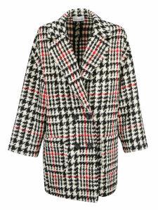 Red Valentino Pied De Poule Coat