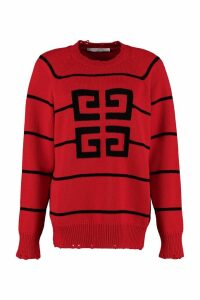 Givenchy Wool-blend Crew-neck Sweater