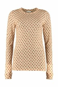 Forte Forte Polka-dot Crew-neck Top