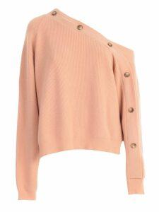 Nanushka Sweater L/s Wide Boat Neck