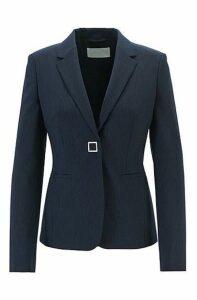 Slim-fit jacket in pinstriped Italian fabric