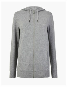 M&S Collection Cotton Rich Longline Hooded Sweatshirt